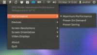 Jupiter - индикатор (апплет) оптимизации энергопотребления для ноутбуков и нетбуков в Ubuntu
